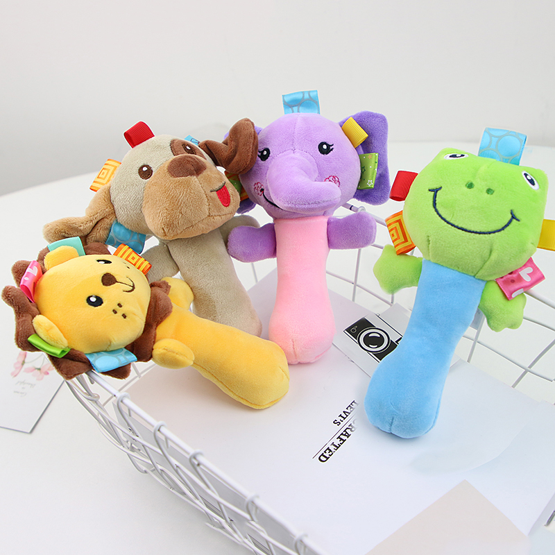 Newborn Baby Toys 0-12 Months Cartoon Animal Baby Plush Rattle Mobile Bell Toy Infant Toddler Early Educational Toys speelgoed 2