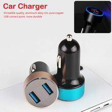 3.1A 2 Port LED Display USB Phone Charger Car-Charger for Samsung S8 iPhone6S 7 8 Plus Tablet Power Adapter Fast Car Charger