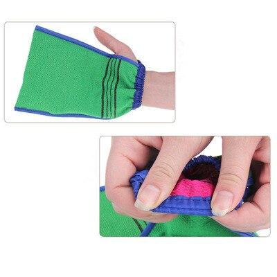 1 PCS Bath towel artifact Shower Spa Two-sided Bath Glove Body Cleaning Scrub Mitt Rub Dead Skin Removal 3