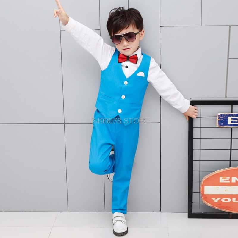 Джентльменский жилет и брюки; 2 предмета; строгие костюмы с цветочным узором для мальчиков; детское платье для свадьбы, дня рождения; Детский костюм для хора, шоу, фортепиано, церемонии