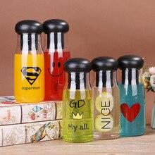 Smile face cup lemon trend plastic water glass cute bottle  bottles kawaii Direct Drinking