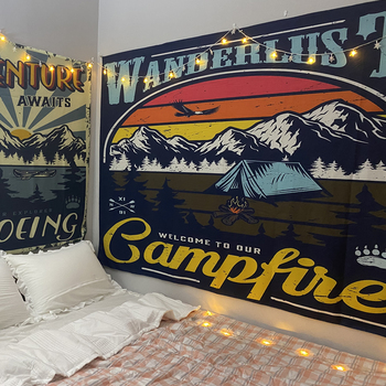 Tapiz nórdico Vintage de algodón hecho a mano, decoración de dormitorio, salón,...