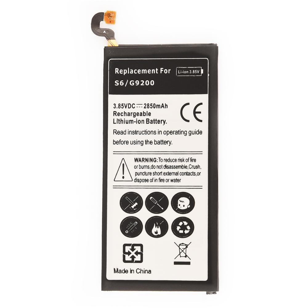 2850mAh Replacement Battery EB-BG920ABE For <font><b>Samsung</b></font> GALAXY <font><b>S6</b></font> <font><b>SM</b></font>-G920 <font><b>G920F</b></font> G920i G920A G920V G9200 G9208 G9209 Phone Battery image