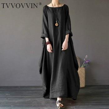 2020 Summer autumn Plus Size Dresses Women 4xl 5xl Loose long vintage Dress Boho Shirt Dress Maxi Robe fashion Female Q293 1
