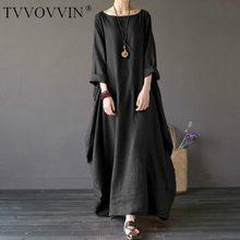Robe longue vintage style Boho pour femmes, grande taille, 4xl 5xl, ample, chemise Maxi, mode féminine, Q293, été, automne, 2020