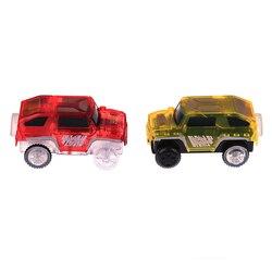 Eletrônica educacional carro especial para brinquedos de trilha mágica com luzes intermitentes criança ferroviária luminosa máquina carro brinquedos