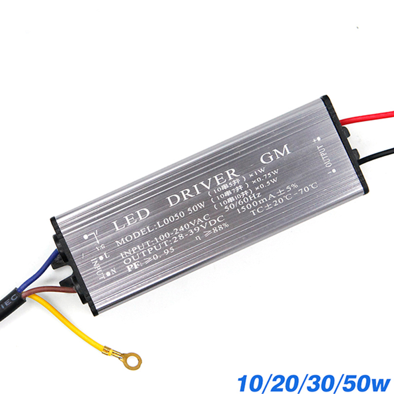 YNL LED Driver 10W 20W 30W 50W Adapter Transformer AC100V-265V To DC 20-38V High Quality Switch Power Supply IP67 For Floodlight