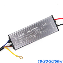 YNL LED Sürücü 10W 20W 30W 50W adaptör transformatörü AC100V 265V DC 20 38V Yüksek kaliteli Anahtar Güç Kaynağı IP67 Projektör Için
