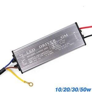 Image 1 - YNL Led treiber 10W 20W 30W 50W Adapter Transformator AC100V 265V zu DC 20 38V hohe Qualität Schalter Netzteil IP67 Für Flutlicht
