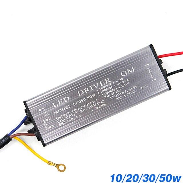 YNL Led treiber 10W 20W 30W 50W Adapter Transformator AC100V 265V zu DC 20 38V hohe Qualität Schalter Netzteil IP67 Für Flutlicht