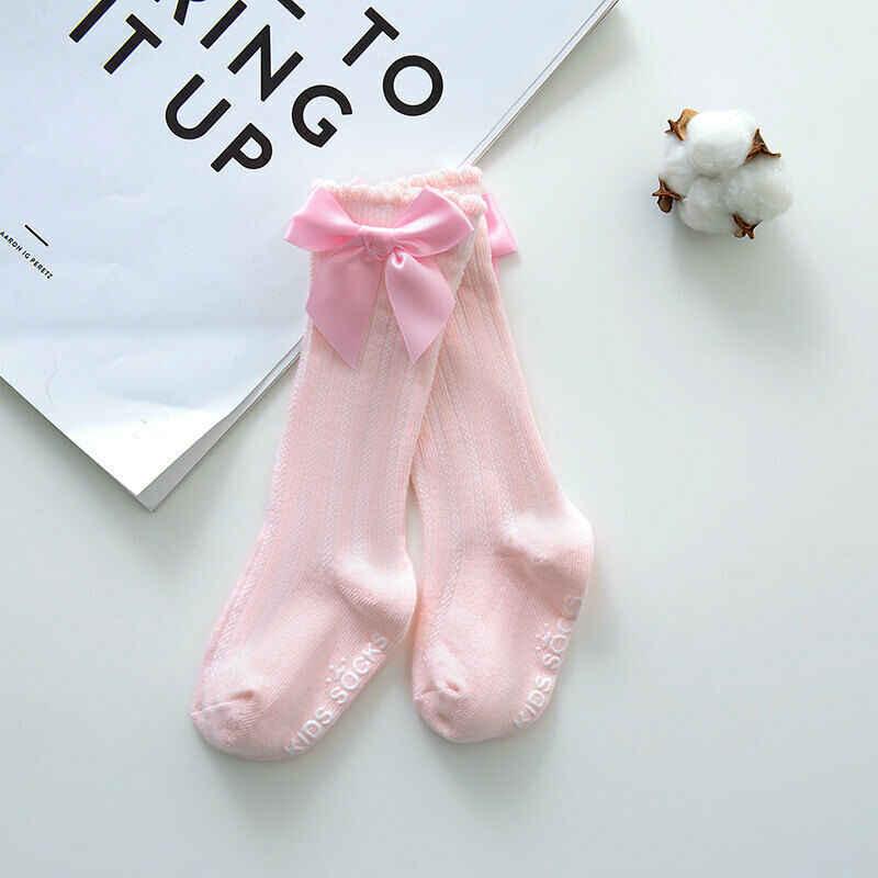 ילדים חדשים פעוטות בנות גדול קשת הברך גבוהה ארוך רך כותנה תחרה תינוק גרבי מוצק צבע בנות גרביונים