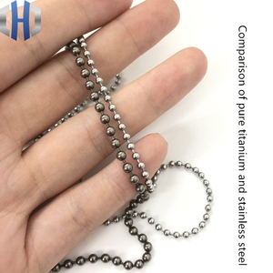 Image 3 - 3.0*650mm Pure Titanium Bead Chain Metal Wave DIY Accessories Sweater Chain Does Not Rust Light Hypoallergenic EDC Bead Chain