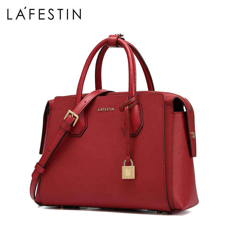 LAFESTIN brand designer women's bag 2019 new luxury handbag large capacity tote bag fashion shoulder Messenger bags female