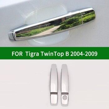 For Vauxhall Holden Opel Tigra TwinTop B ASTRA GTC CORSA TIGRA ADAM 2004-2009 chrome silver car side door handle cover trim фото