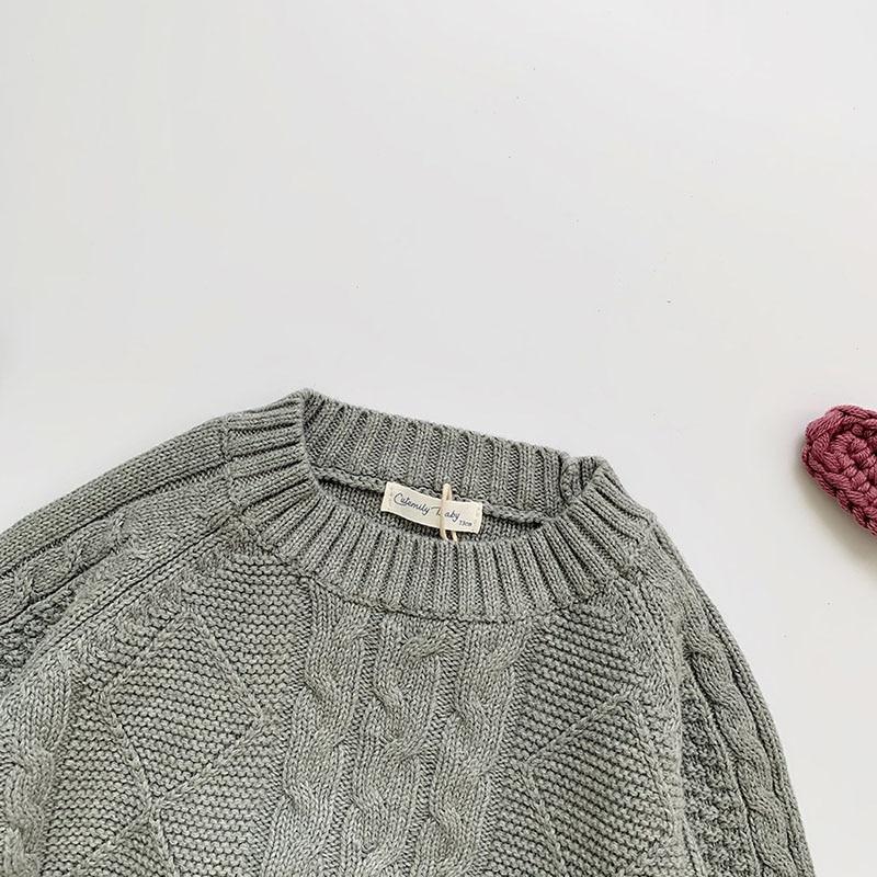 Winter Baby Kids Boys Girls Pullover Sweaters New 2021 Autumn Kids Boys Girls Long Sleeve Knit Hemp Flowers Sweater 5