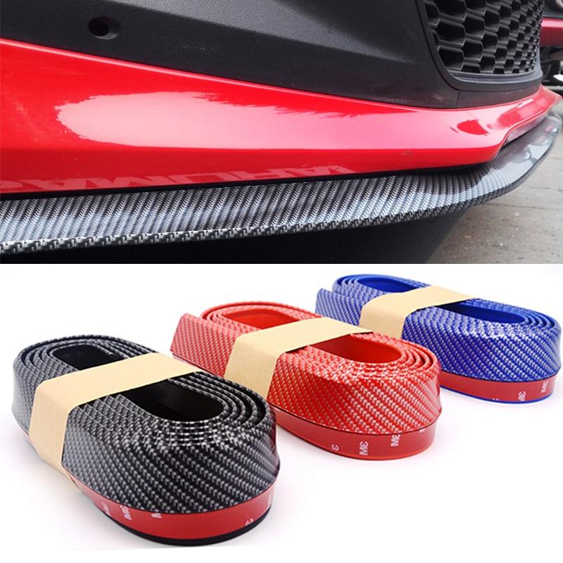 2.5m Auto Lip Bumper Striscia Protezioni Splitter Kit corpo  vettura Spoiler Imbottiture e Paraurti Paraurti Auto Porta In Fibra di  Carbonio di Gomma Lip 65 millimetri larghezza della Striscia-in  Modanature auto da Automobili e motocicli su