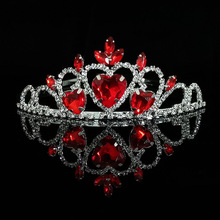 Headdress-Girl Factory-Outlet Bridal-Crown Heart Peach American European And Red
