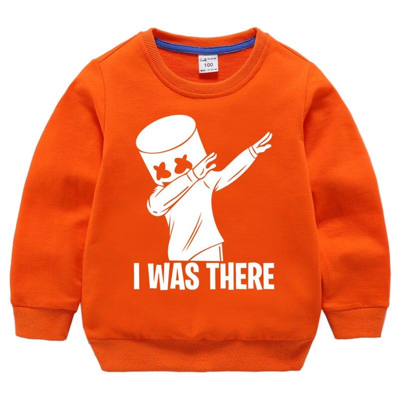 BOY'S Hoody Marshmello DJ Cotton Candy Baby Girls 100% Cotton Coat Children New Products Crew Neck Base Shirt