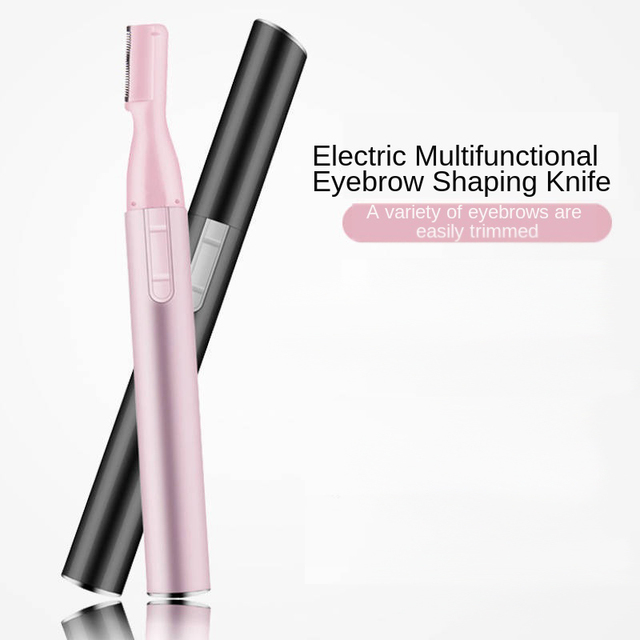Electric Eyebrow Razor Mini Hair Epilator Eye Beauty Shaver Painless Eyebrows Remove Knife Women Cosmetic Shaper Face Trim Tool
