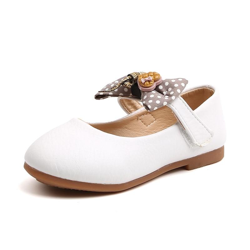 Купить детские мягкие кожаные туфли принцессы повседневная обувь на