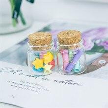 50 recipientes pequenos do vidro de hyaline dos frascos do ofício dos pces 20ml com rolhas o artesanato criativo recarregáveis garrafas vazias dos presentes