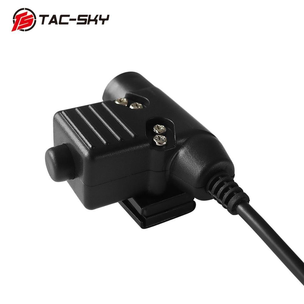 Купить с кэшбэком TAC-SKY U94 Kenwood plug PTT + COMTAC II silicone earmuffs outdoor hunting sports noise reduction pickup  tactical headset BK