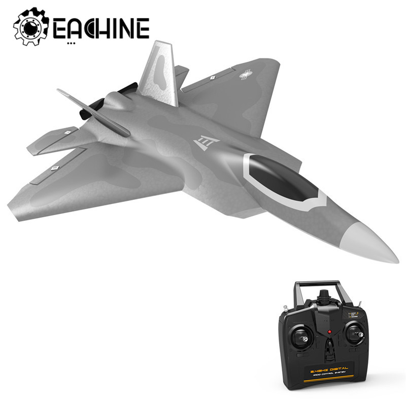 Eachine Mini F22 Raptor EPP 260mm Wingspan 2.4G 4CH 6-Axis RC Airplane Trainer Warbird Fixed Wing RTF One Key Aerobatic image