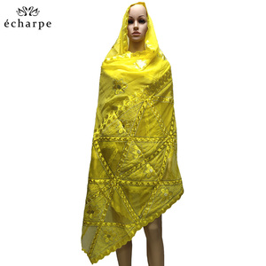 Image 3 - New fashion design Muslim headscarves and long scarf type geometrical design scarf made of pure cotton and comfortable EC108