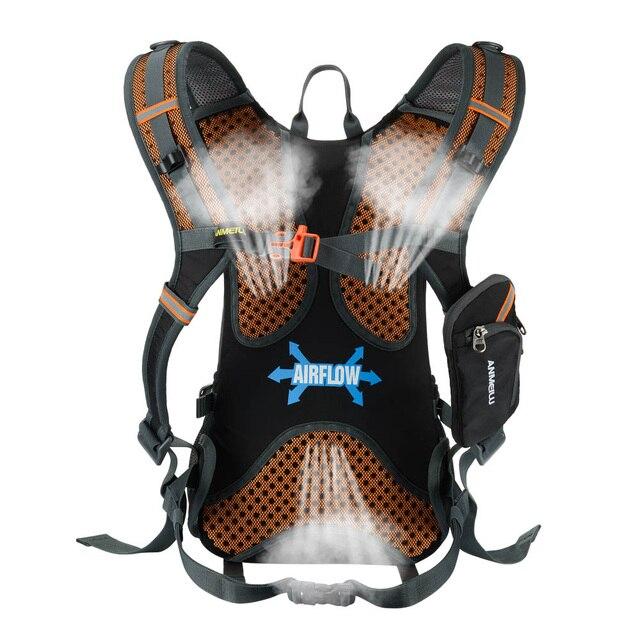 Lixada 18l saco de bicicleta à prova dwaterproof água mtb ciclismo mochila com capa chuva escalada respirável caminhadas acampamento bicicleta hidratação mochila 2