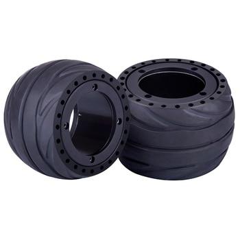 цена на 2pcs 105 X 66mm Rubber Tire Wheel For 105 X 65mm Hub Motor Electric Skateboard Accessories Sports Toys Modift Part