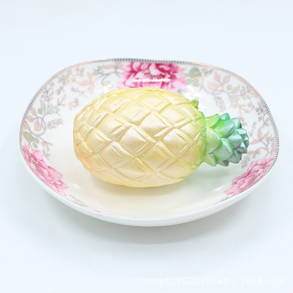 Squishy Jumbo Pineapple Scented Cream Super Slow Rising Squeeze Toys Cure Toy Squeeze Toys Relieve Stress Funny Kid Xmas Gift
