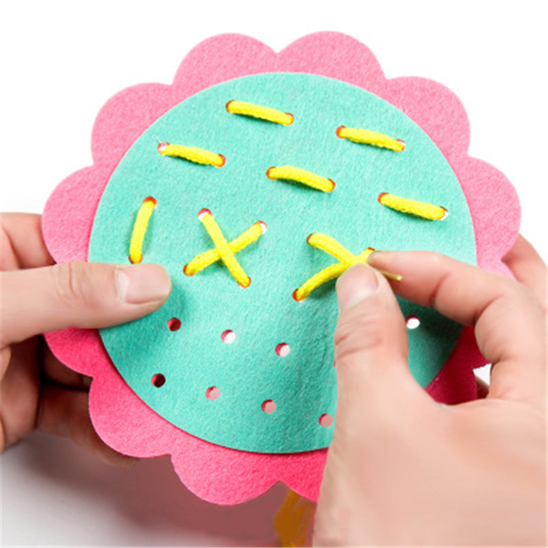8 Kinds Kids DIY Weave Cloth Materials Set Toys For Children Baby Kindergarten Flower DIY Early Educational Learning Craft Toy