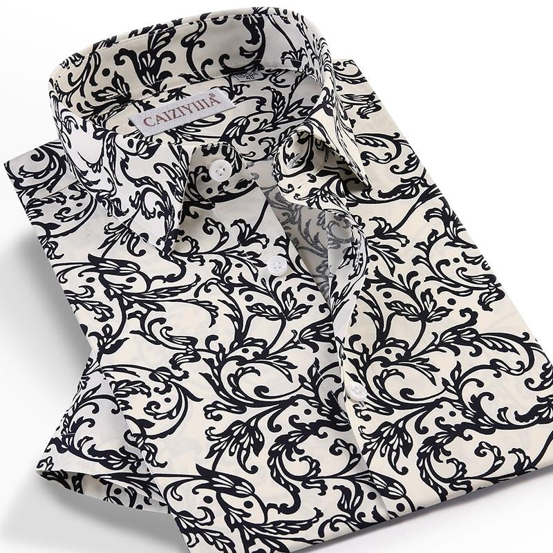 Men's Casual Short Sleeve Beach Floral Printed Hawaiian Shirts Pocket-less Design Standard-fit Summer Stylish Flowers Shirt