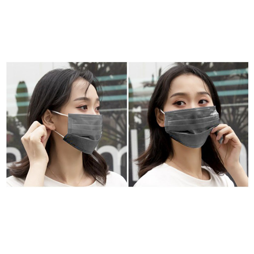 10/20/30/50/100 Pcs Anti-Haze Face Mouth Mask Non-Woven 3 Layer Elastic Earloop Mask Anti-Dust For Dust Pollution