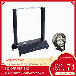 Motorcycle Static Wheel Balancer Tire Stand Street Rim Tire Balancing Spin Static Truing Stand With Adjustable Centering Cones