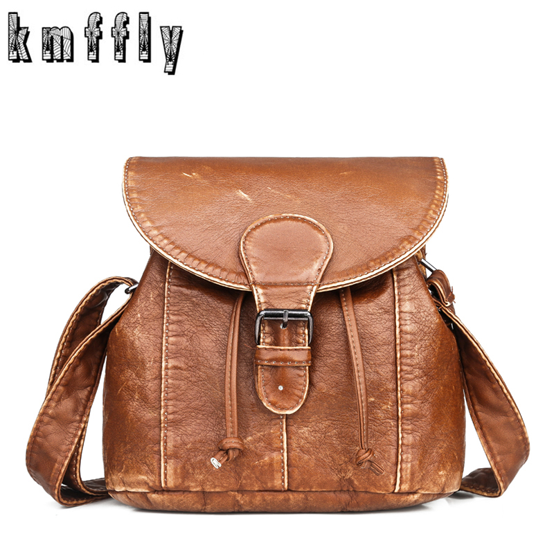 KMFFLY Brand Ladies Casual Small Women Messenger Bags Crossbody Soft PU Leather Shoulder Bag Luxury Female Handbags Sac A Main