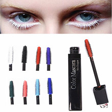 1PC Eyes Makeup Colored Mascara Waterproof Easy Remove Blue White Red Black Purple Lengthen Eyelashes Mascara Party Use Dragon