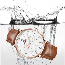 SWISH Mens Watches Top Brand Luxury Men Leather Business Quartz Watch Chronograph Watperproof Sports Clock Male Erkek Kol Saati