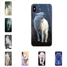 Amazing Snow White Wolf Spirit Animal For Huawei Nova 2 V20 Y3II Y5 Y5II Y6 Y6II Y7 Y9 G8 G9 GR3 GR5 GX8 Prime 2018 2019(China)