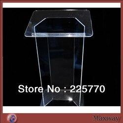 Novel Acryl Lessenaar Podium best selling goedkope knockdown acryl katheder plexiglas