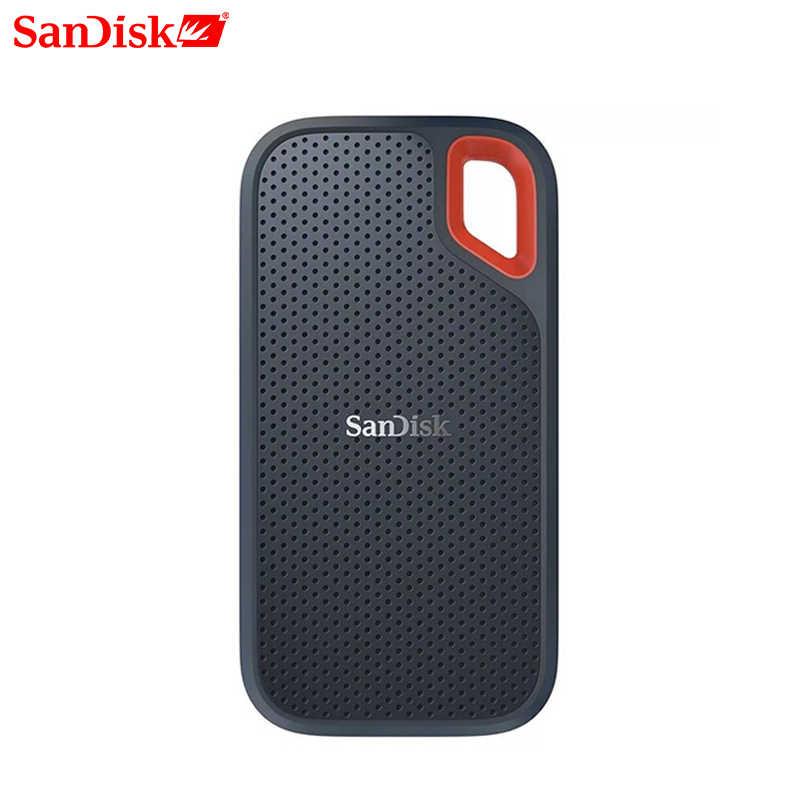 SanDisk Portable Eksternal SSD 1TB 500GB 250 Gb 550M Eksternal Hard Drive SSD USB 3.1 HD SSD hard Drive Solid State Disk untuk Laptop