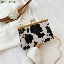 Fashion Animal Pattern PU Leather Crossbody Bag Women Clip B