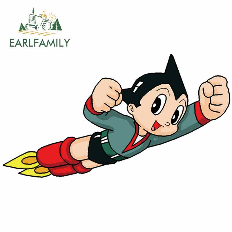 EARLFAMILY 13cm X 7.4cm For Astroboy Fine Decal Interesting Car Stickers Body For Car Graffiti Sticker Motorcycle Sunscreen