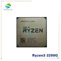 AMD Ryzen 3 2200G R3 2200G 3.5 GHz Quad-Core Quad-Thread CPU Processor YD2200C5M4MFB Socket AM4