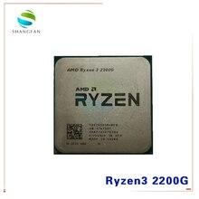 AMD Ryzen 3 2200G R3 2200G 3.5 GHz رباعية النواة رباعية موضوع معالج وحدة المعالجة المركزية YD2200C5M4MFB المقبس AM4