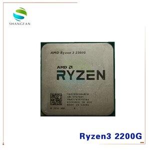 Image 1 - AMD Ryzen 3 2200G R3 2200G 3,5 ГГц четырехъядерный четырехпоточный процессор YD2200C5M4MFB разъем AM4