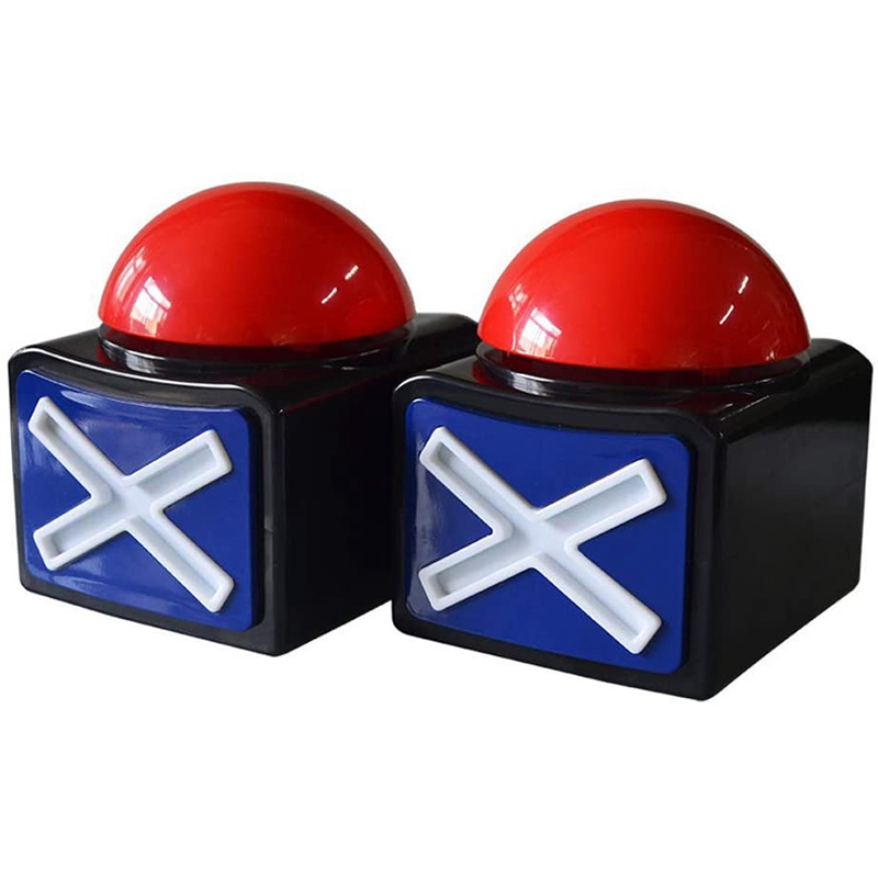 2PCS Game Answer Buzzer , Game Buzzer Alarm Sound Play Button with Light Trivia Quiz Got Talent Buzzer Game Toys