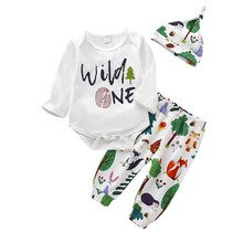Autunmn infant baby boys girls clothes sets outfits cotton animal sports suit for newborn clothing set