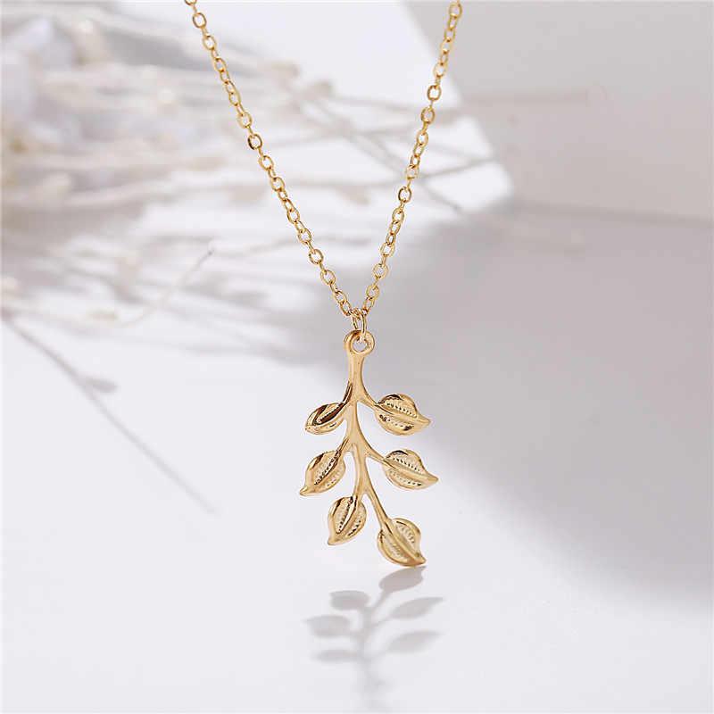 Moda boêmio folha lua círculo pingente colar charme instrução gargantilha feminino jóias