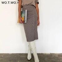 Клетчатая юбка с разрезом Цена 1132 руб. ($14.58) | 156 заказов Посмотреть